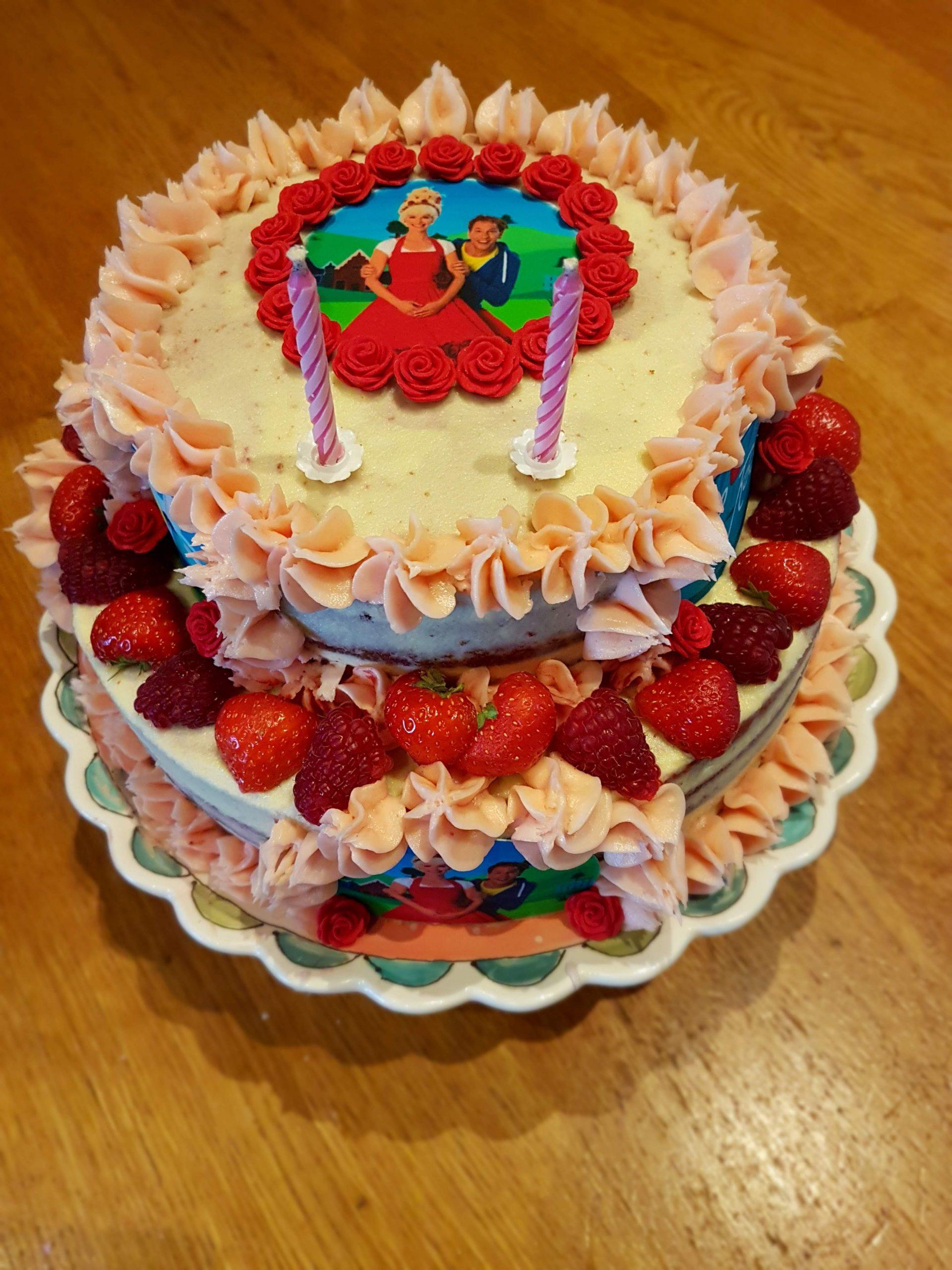 Juf roos taart  2 jaar
